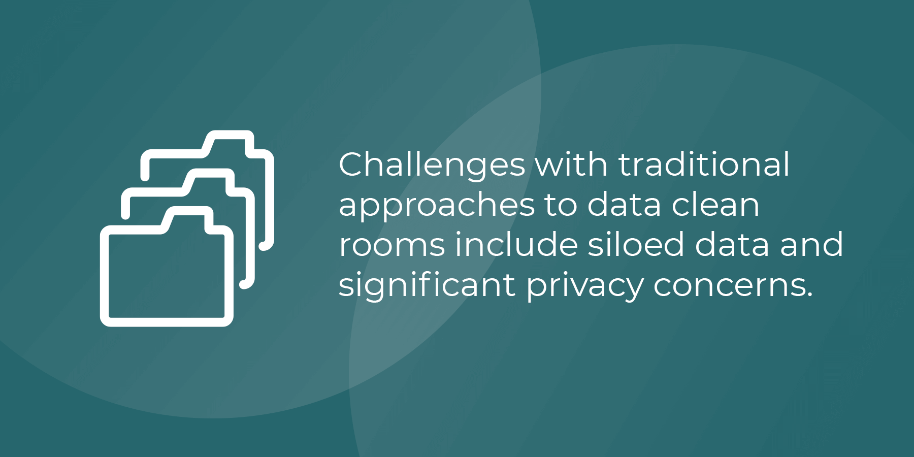 Challenges with traditional clean rooms include siloed data and significant privacy concerns