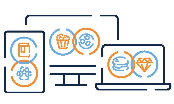 Mobile, desktop and laptop screens