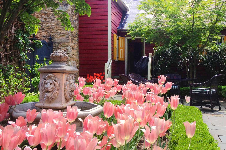 The Mayor's House garden.