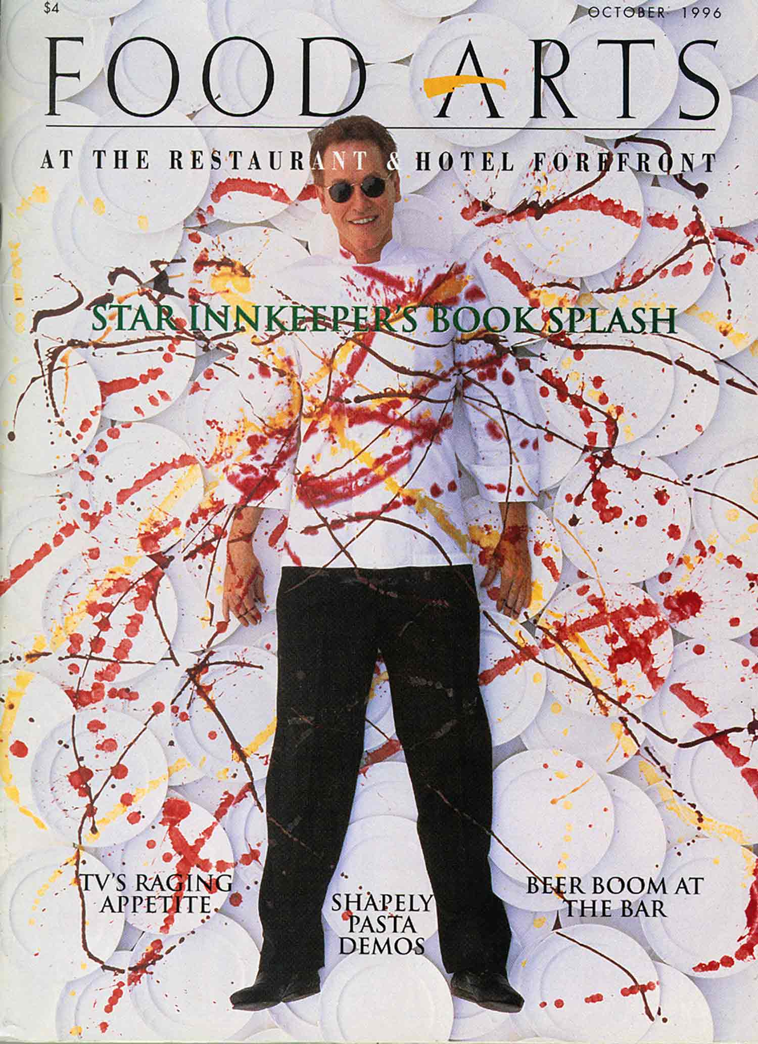 Patrick O'Connell on the cover of a magazine in the 90's.