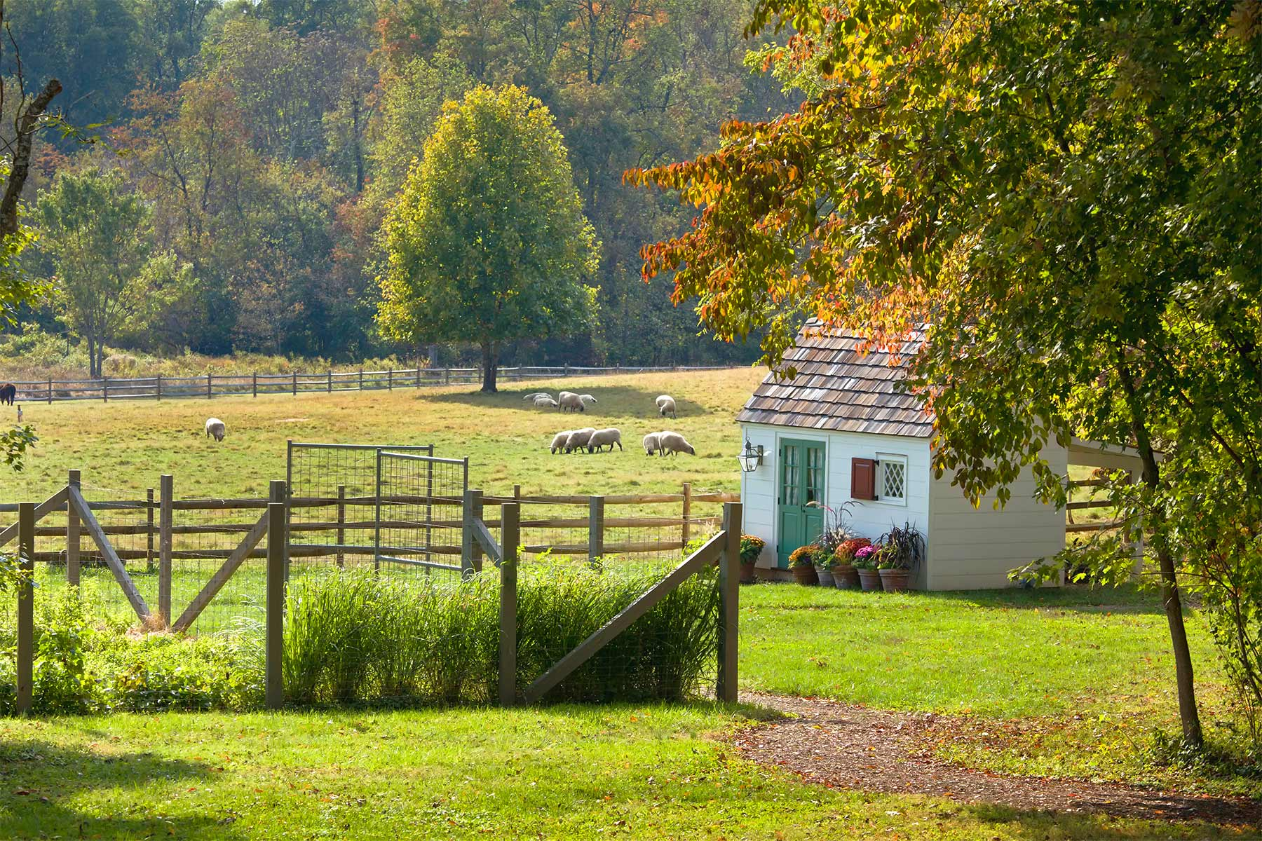 The farm at the Inn at Little Washington.