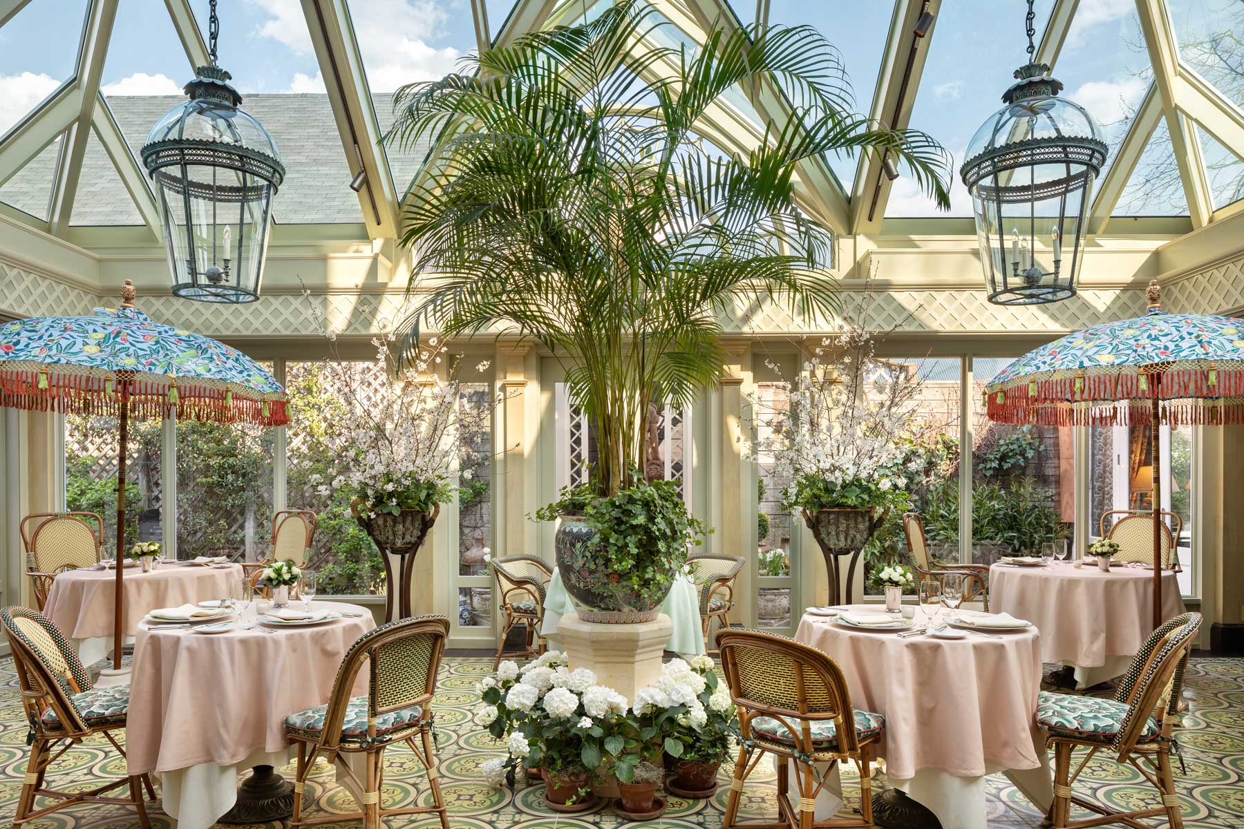 Daytime photo of the conservatory.