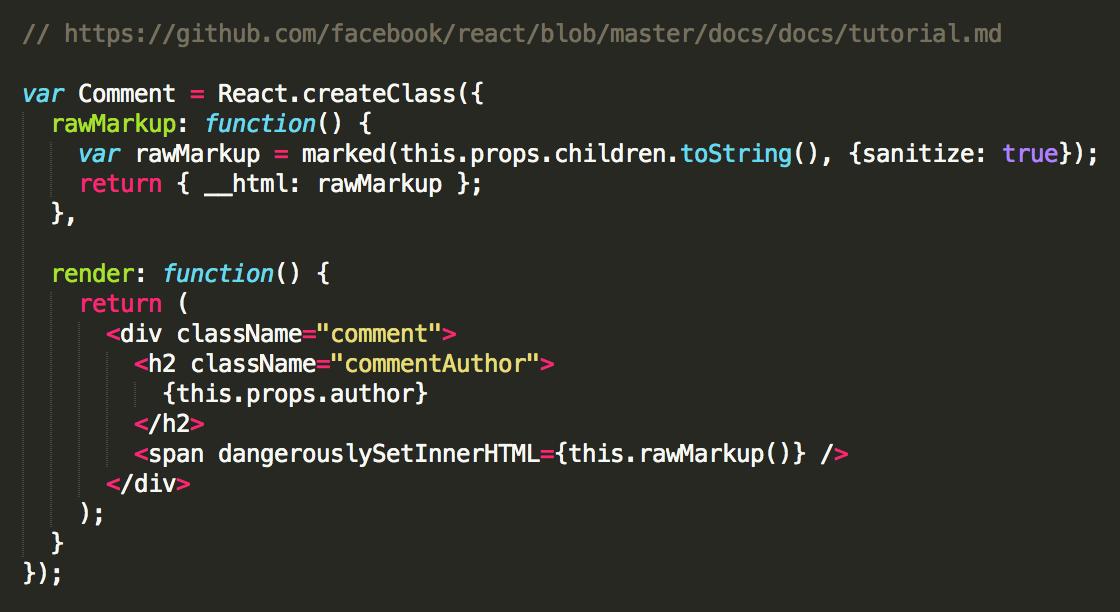 react code