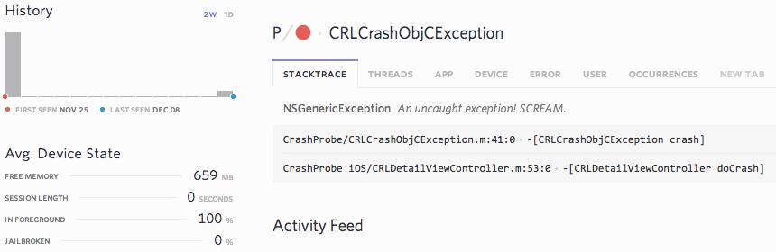 iOS Stacktrace