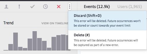 ignore or discard the error