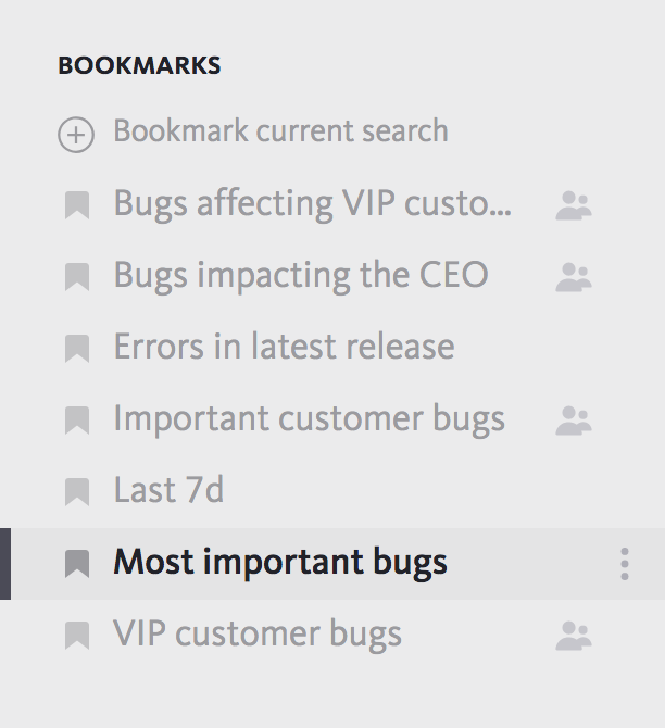 Shared bookmarks