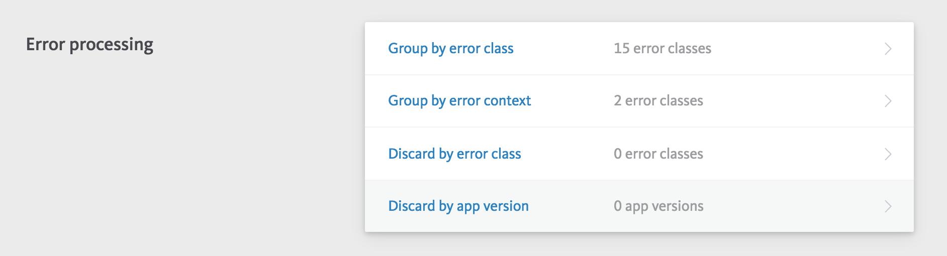 Error processing