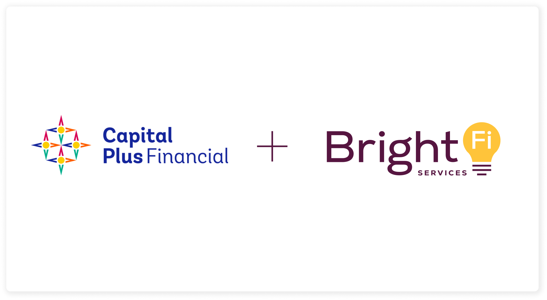 The BankOn logo and the BrightFi logo on a white background