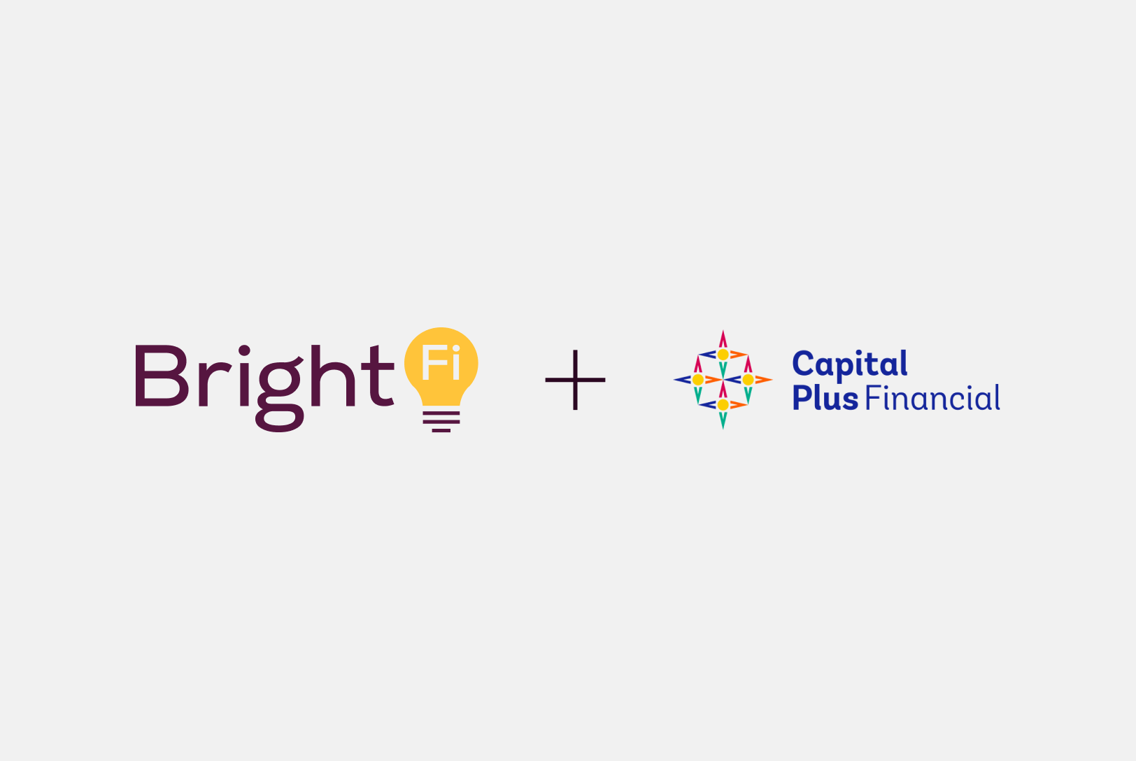 The BrightFit logo and the Sterling National Bank logo on a plum-colored background