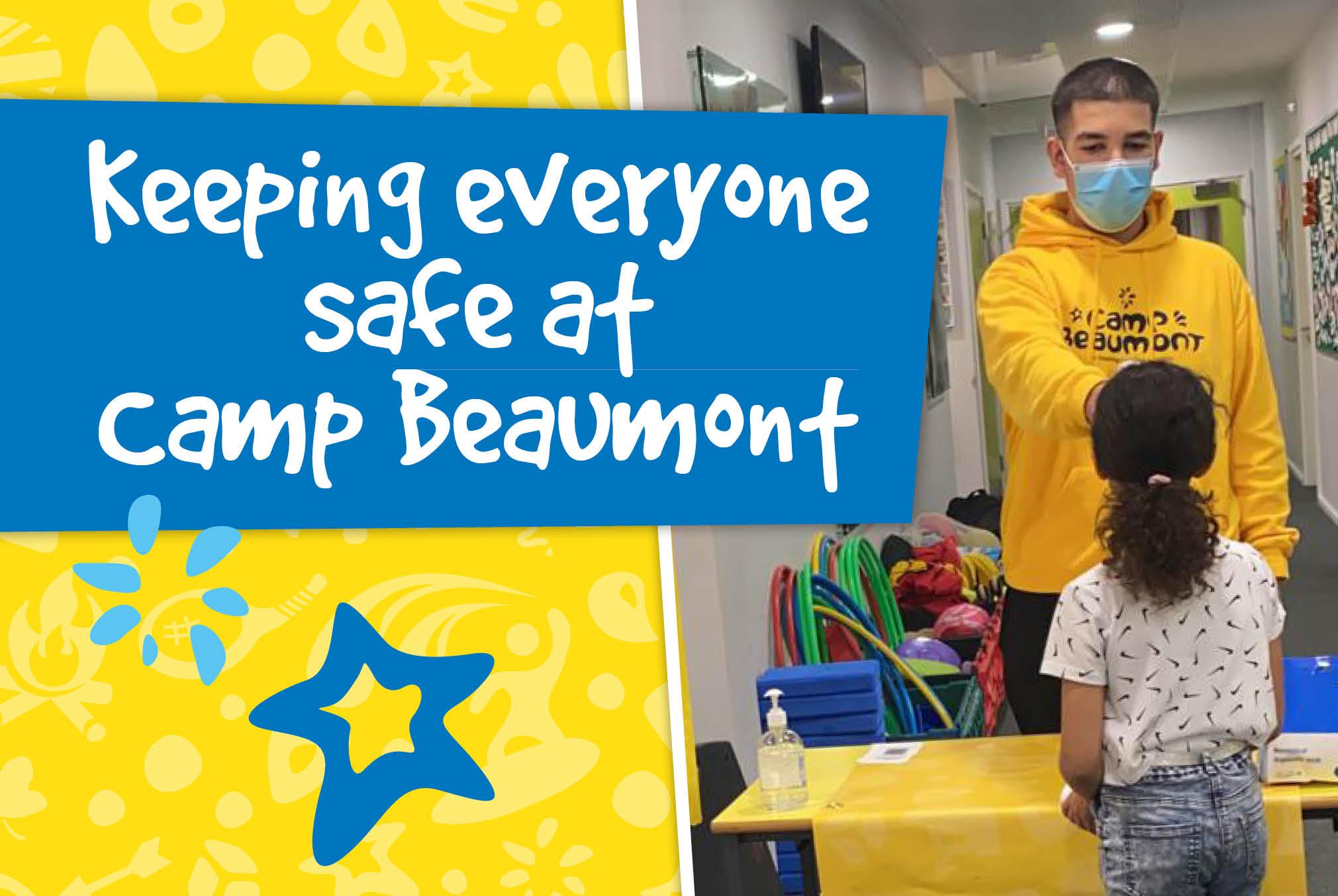 CB Keeping everyone safe at Camp Beaumont Web Banner V2 Blog