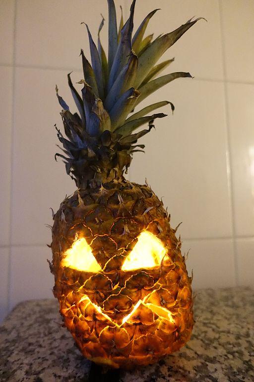 Pineapple jack o lantern 1