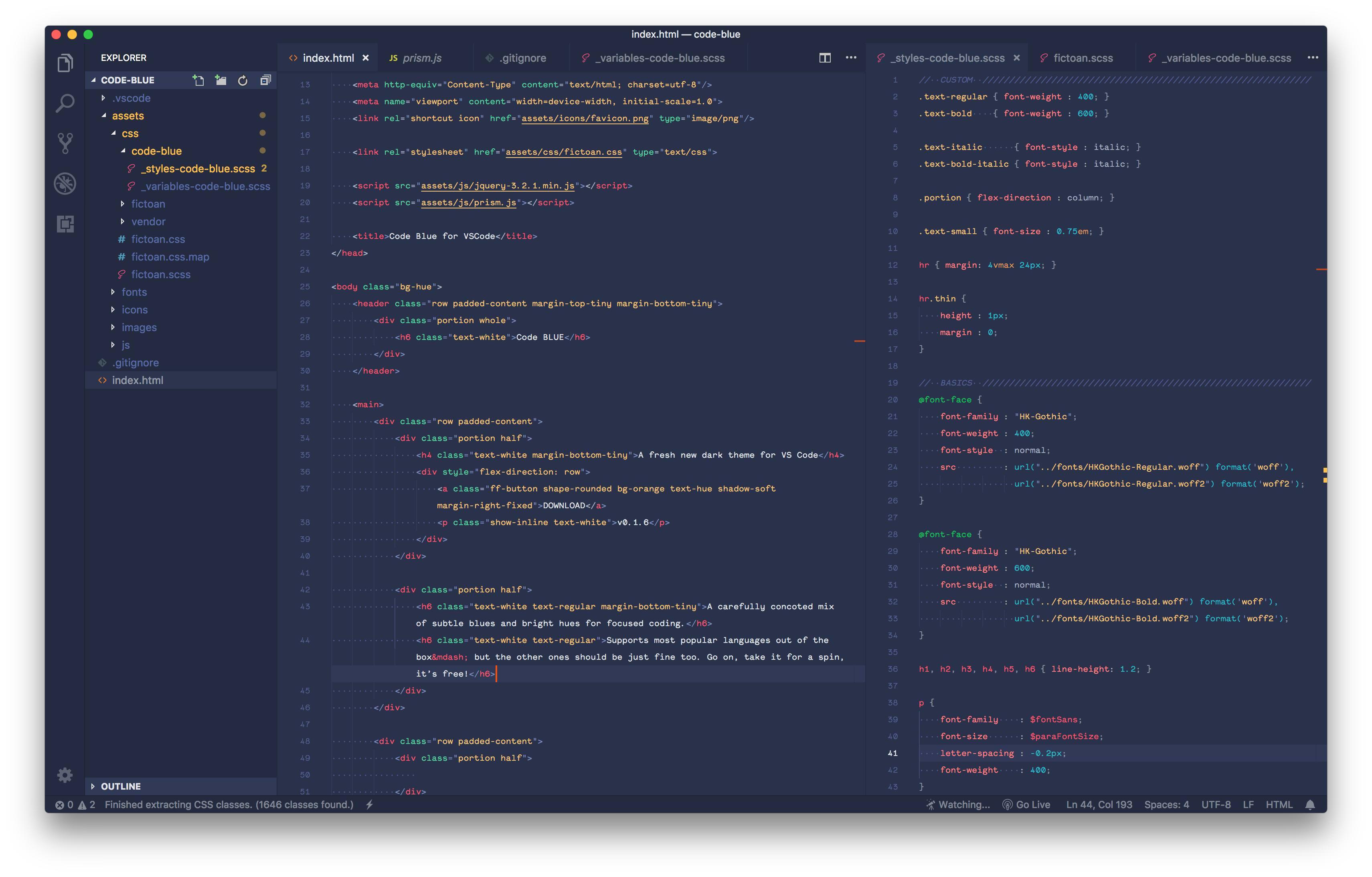 Code Blue for VS Code