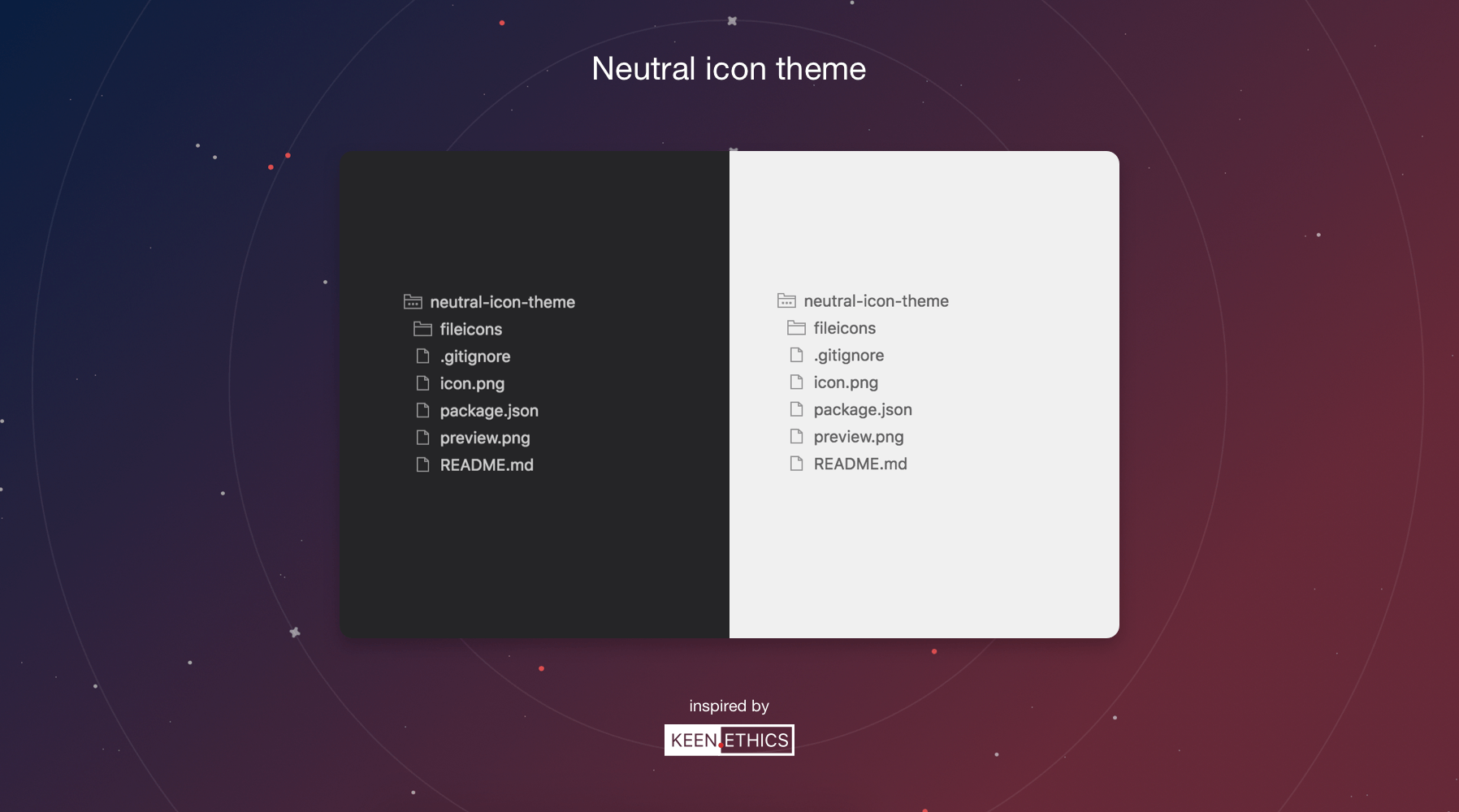 Keen Neutral icon pack for VS Code