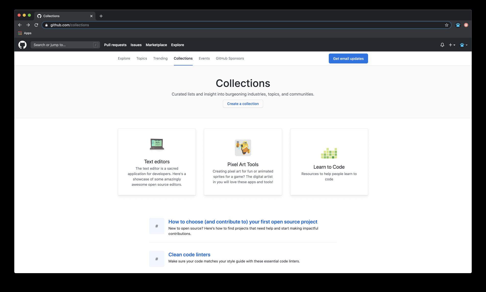 GitHub Collections