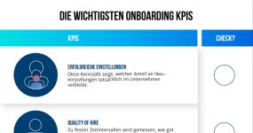 Infografik: Checkliste KPIs im Onboarding