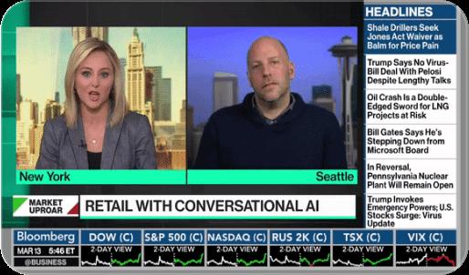 Live Bloomberg interview screenshot