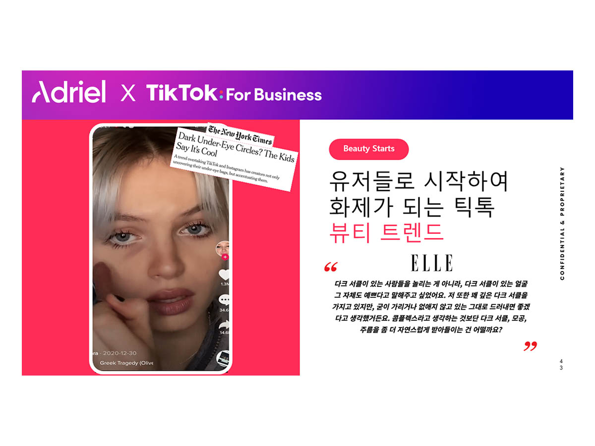 아드리엘-틱톡, 뷰티 마케팅 성공 전략 웨비나 성료