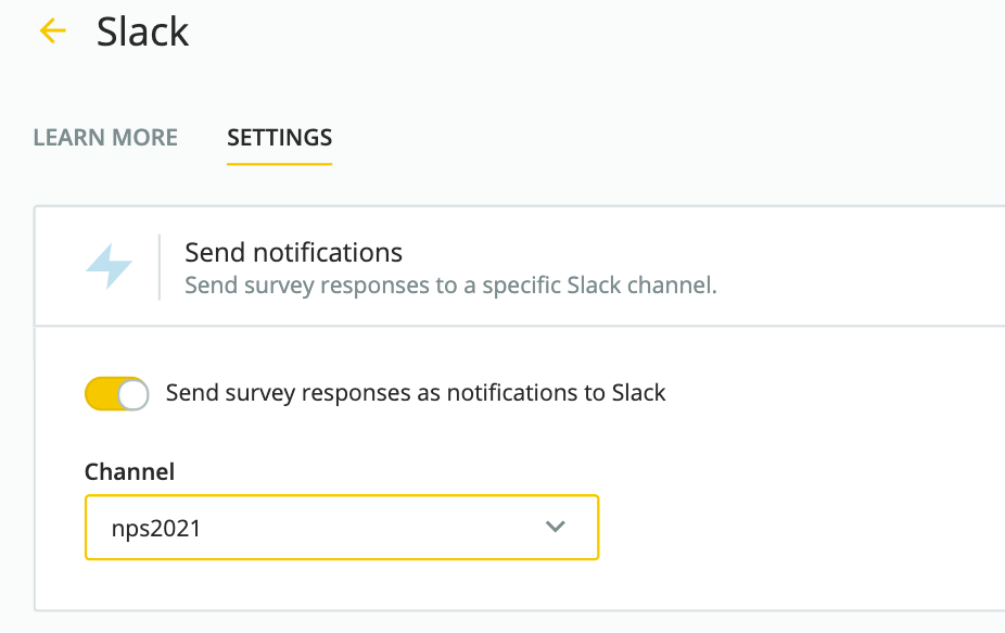 slack notifications in Survicate