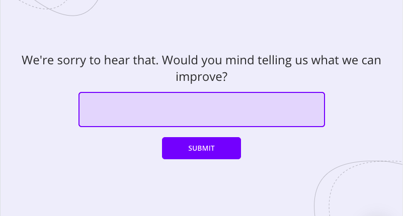 follow-up question to detractors in an nps survey