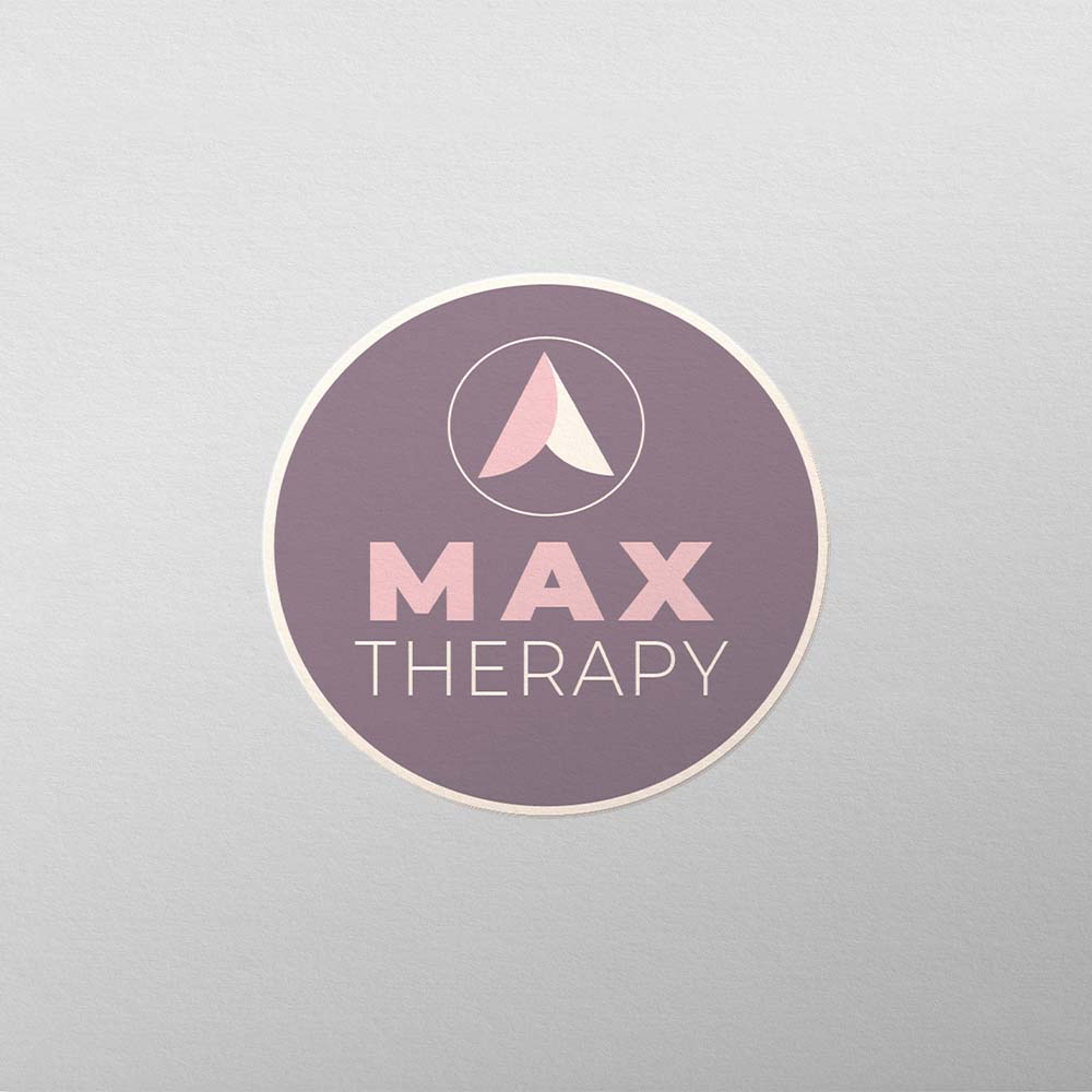 Logo mockup that says Max Therapy
