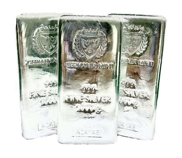 3 silver bullion bars