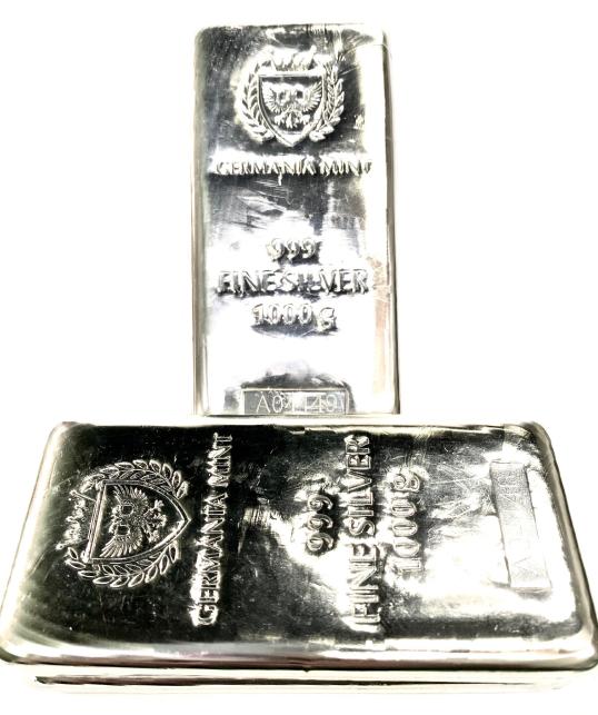Perpendicular 2 Silver Bars