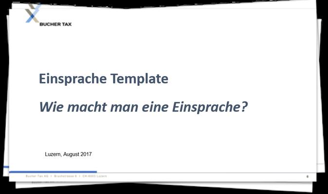 Einsprache-Template