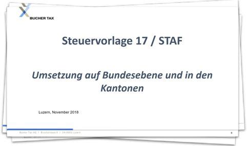 Umsetzung der Steuervorlage 17 / STAF auf Bundesebene und in den Kantonen