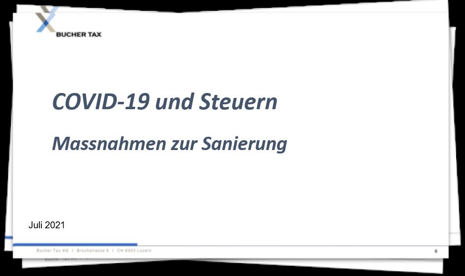 Covid-19 - Massnahmen zur Sanierung