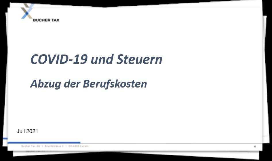 Covid-19 - Abzug der Berufskosten