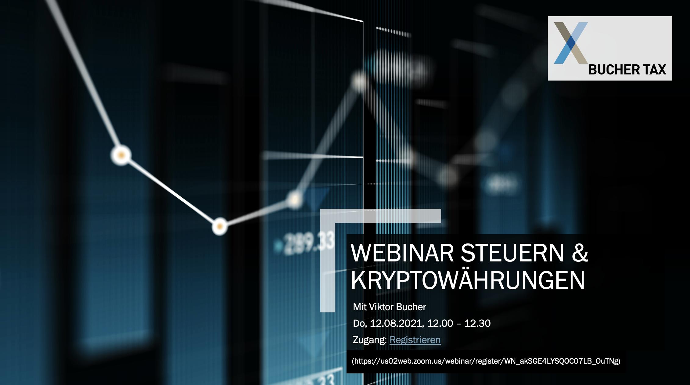 Webinar Steuern und Kryptowährungen