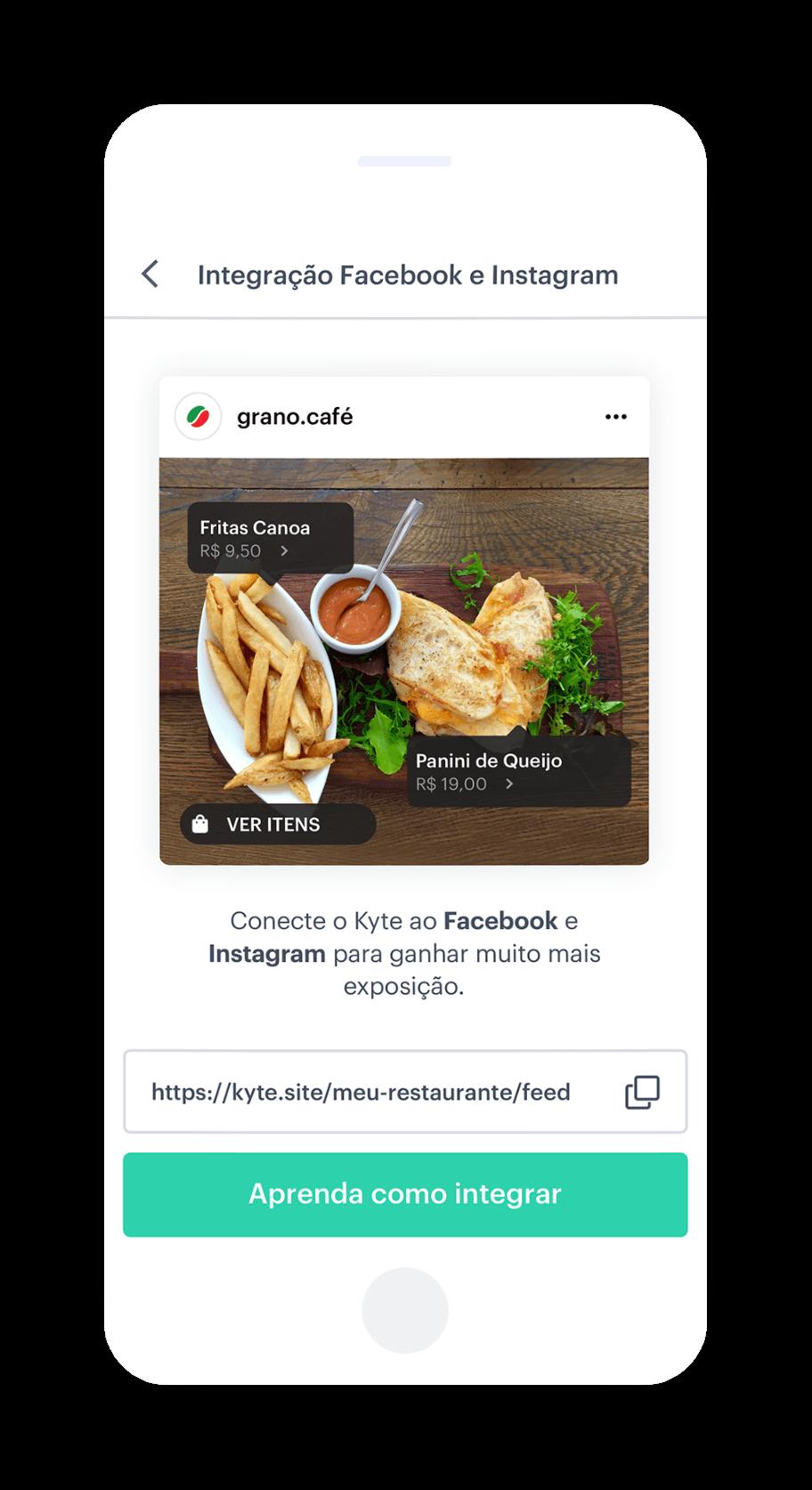 Site grátis integrado ao Facebook e Instagram