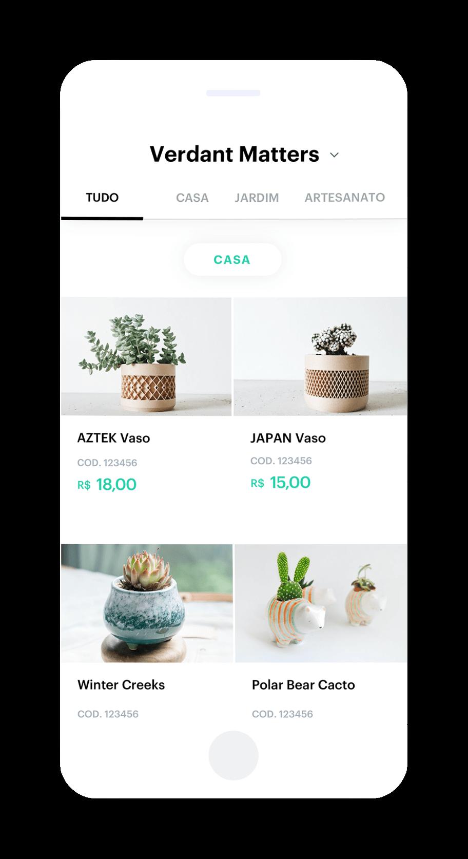 Catálogo de produtos na Internet