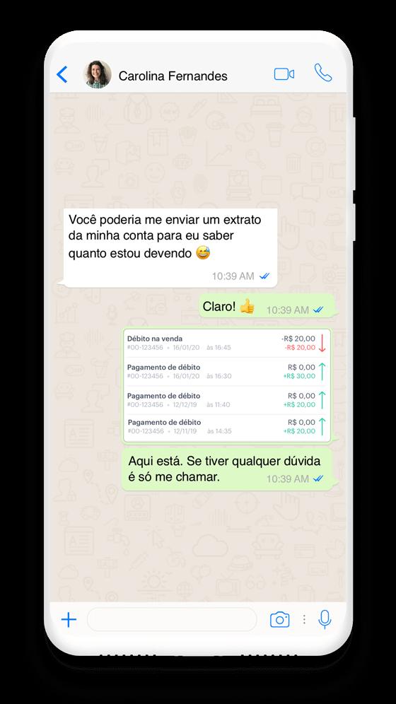 Envie cobranças por WhatsApp