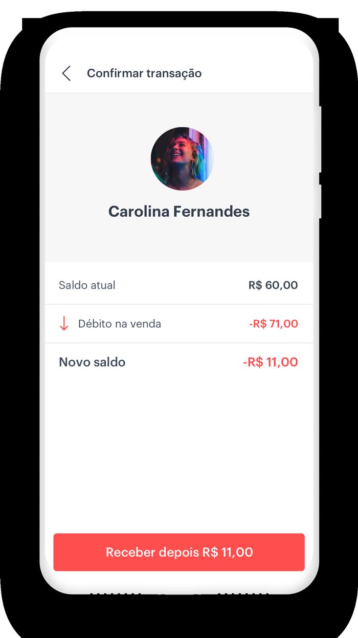 Cadastre seus clientes no app