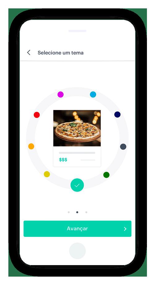Crie seu cardápio de pizzas com logo e cores da sua marca