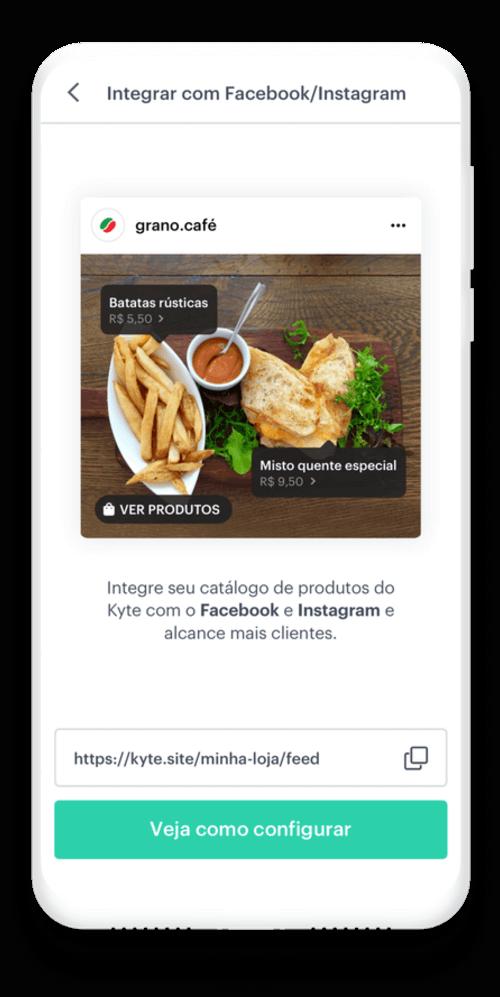 Integre seu catálogo digital com Facebook e Instagram