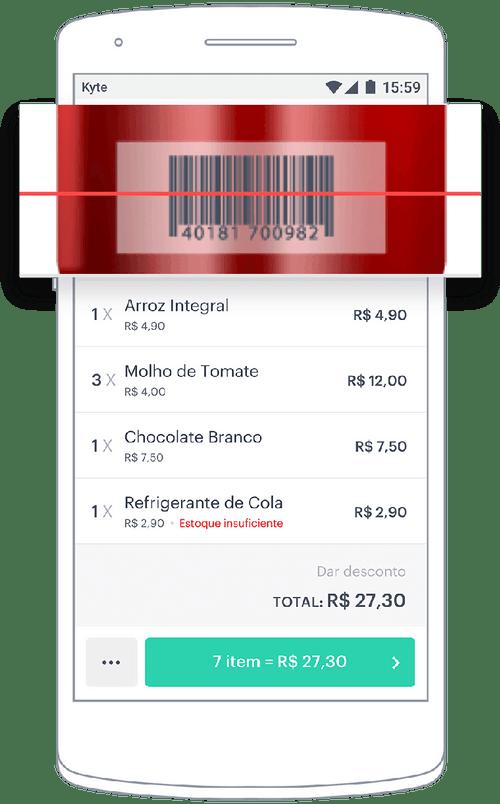 Cadastro de produtos com código de barras