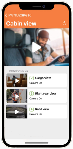 Cartrack app allows you to keeps your cargo, team and family safe with in-cabin cameras and helps monitor driver behaviour with our advanced video telematics cameras
