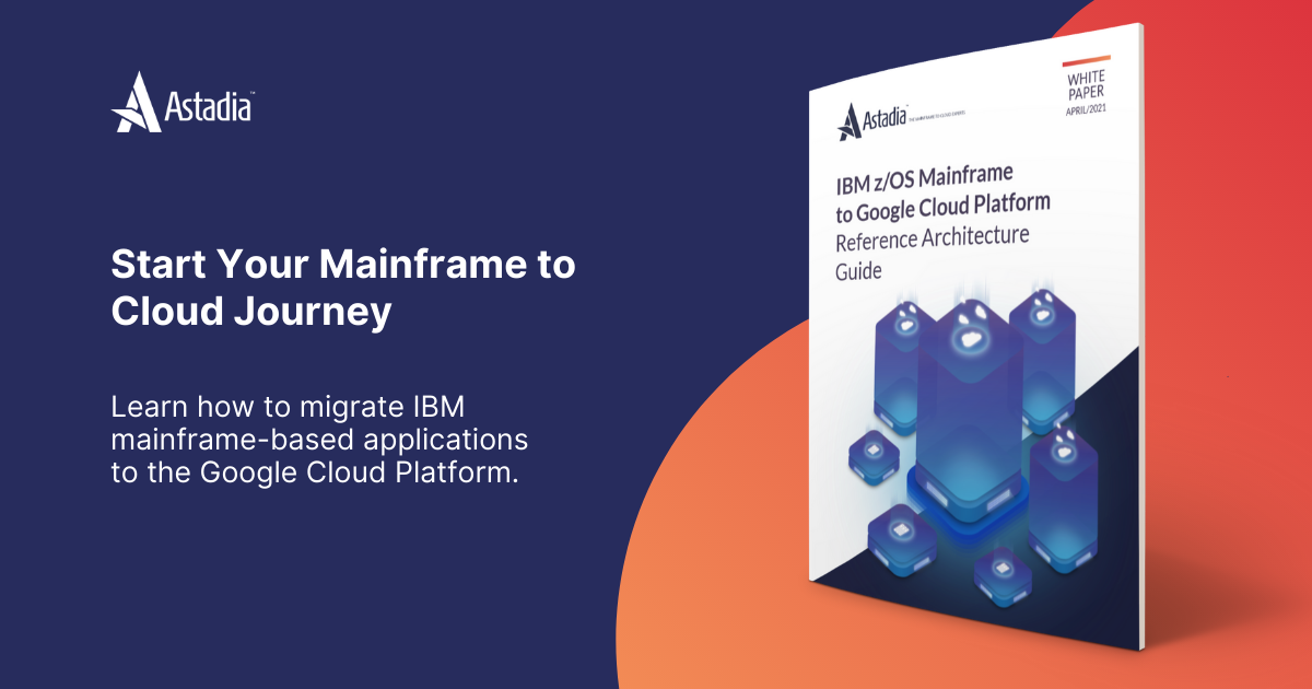 IBM z/OS Mainframe to Google Cloud banner