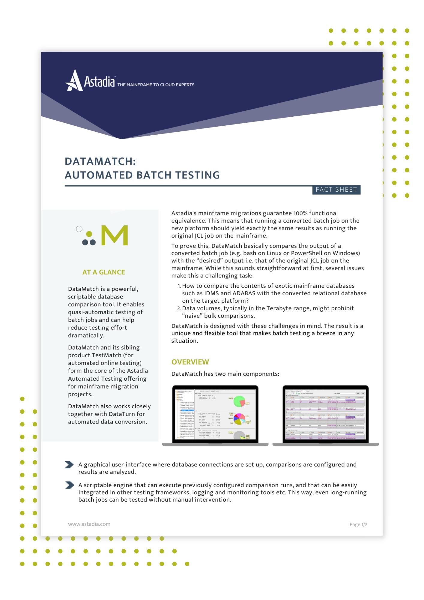 DataMatch fact sheet