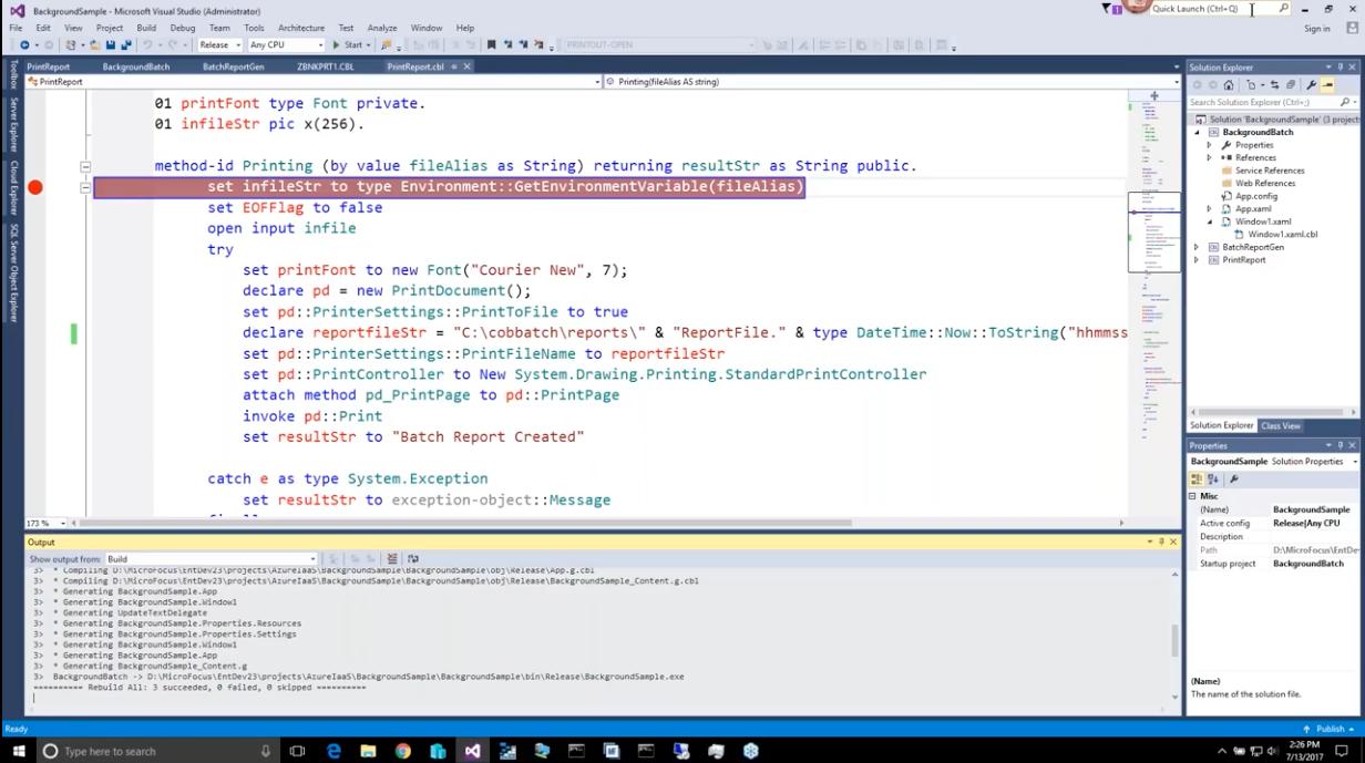 Moving COBOL Workload to Microsoft Azure