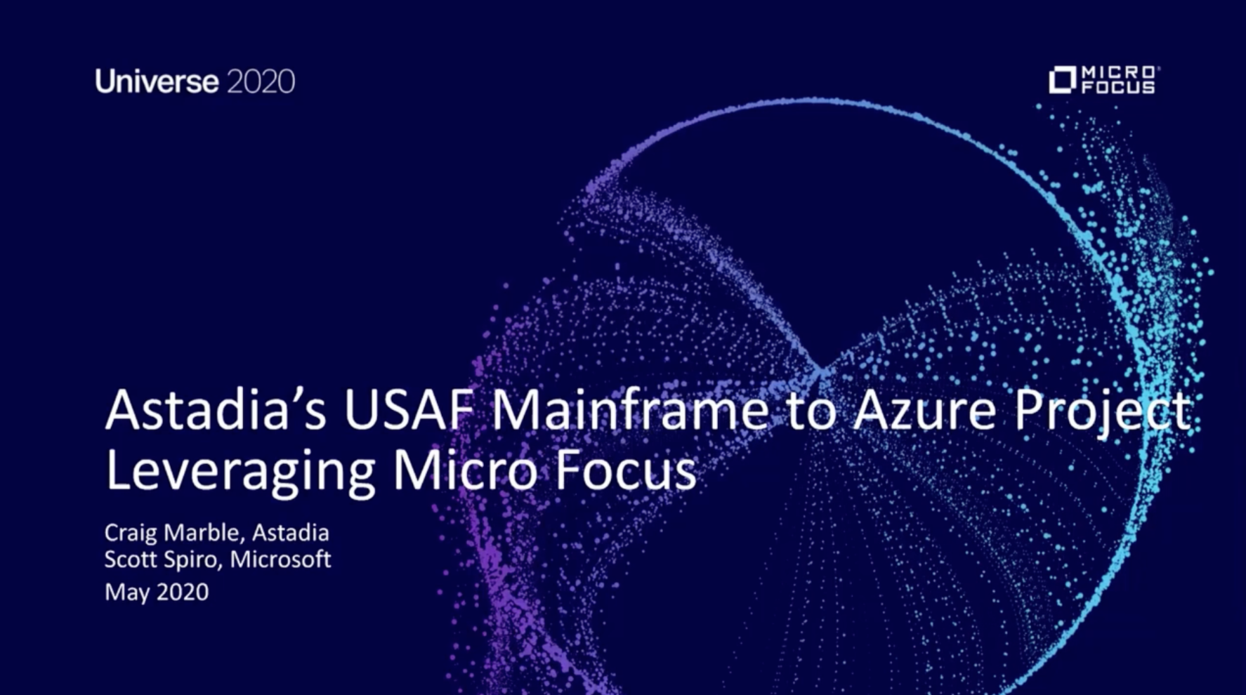 USAF Mainframe to Azure Project Leveraging Micro Focus