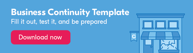 Business Continuity Template banner