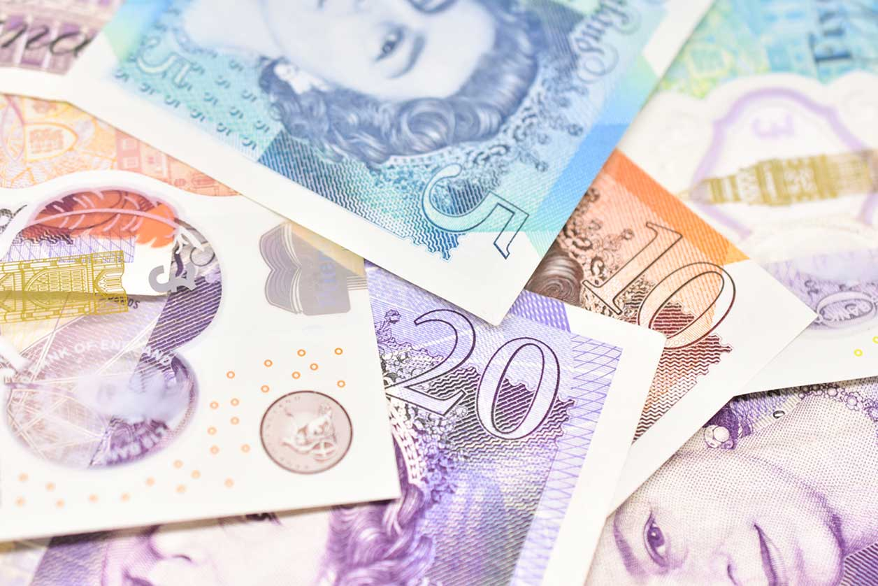 Personal and business tax changes for new tax year, image of paper money | Crunch