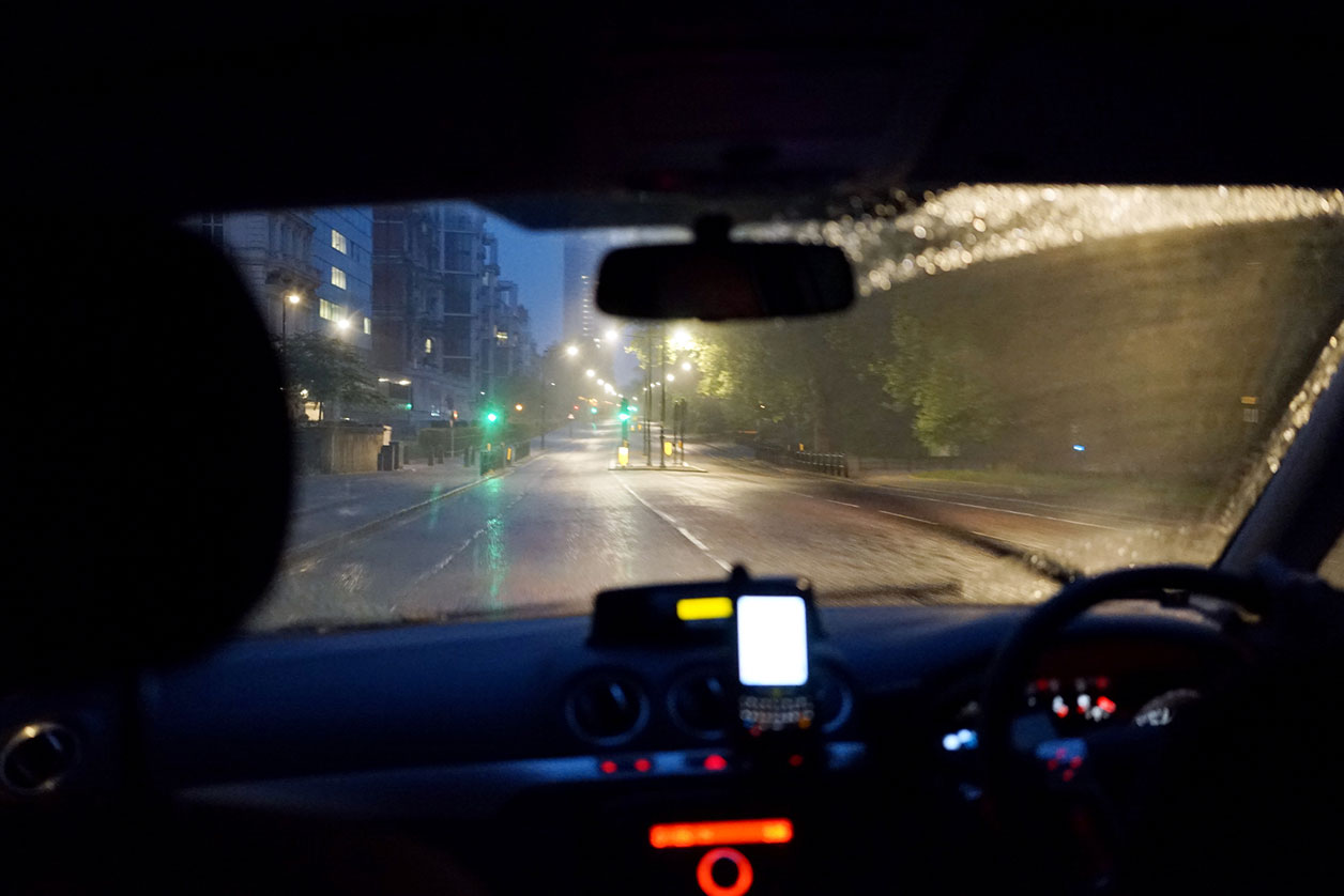 Business mileage rates – who can claim and how much does HMRC allow? Image of a driver on a dark night | Crunch