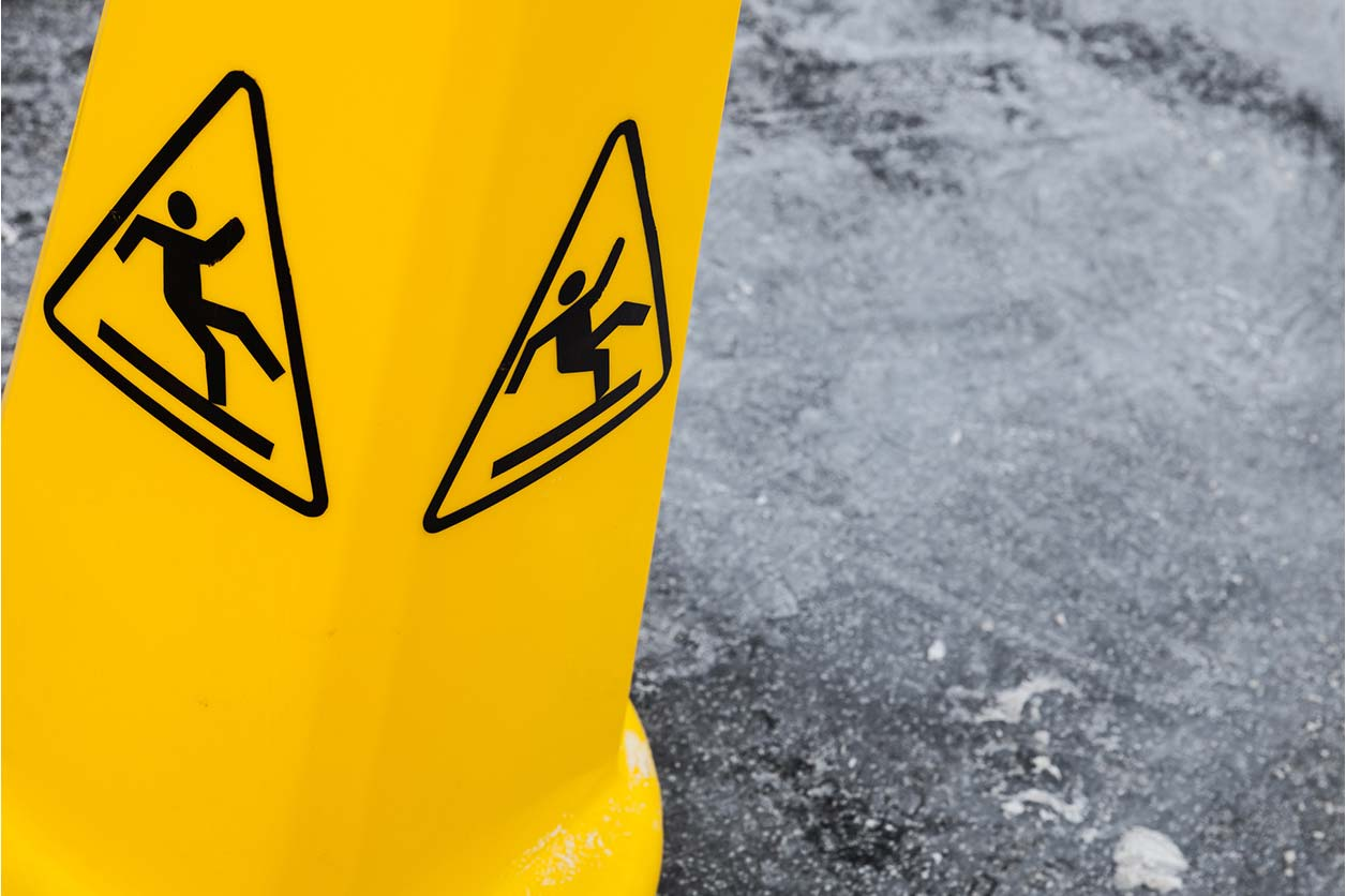 A warning cone