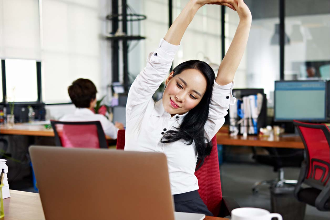 Ultimate health and wellbeing tips for the self-employed, image of someone stretching | Crunch