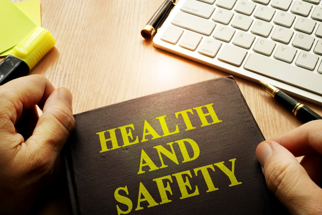 Health & safety law changes: how the self-employed are affected. Image of health and safety handbook
