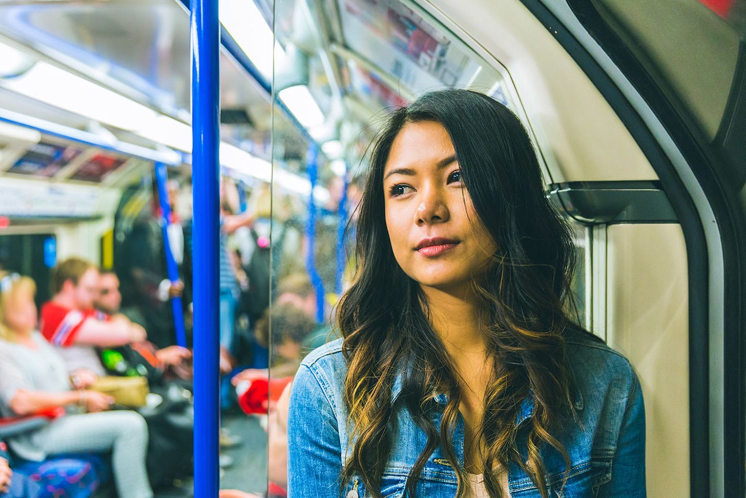Travel from home straight to a customer? The rules have changed. Image of a woman on a train | Crunch